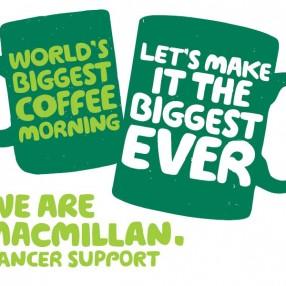 Macmillian coffee morning at Greenway House